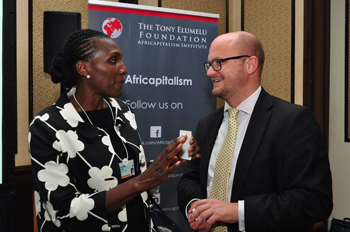 Moky Mukura, Deputy Director of Communications, Gates Foundation Africa and Dr. Lyal White, chapter author and Professor at GIBS Business School in South Africa
