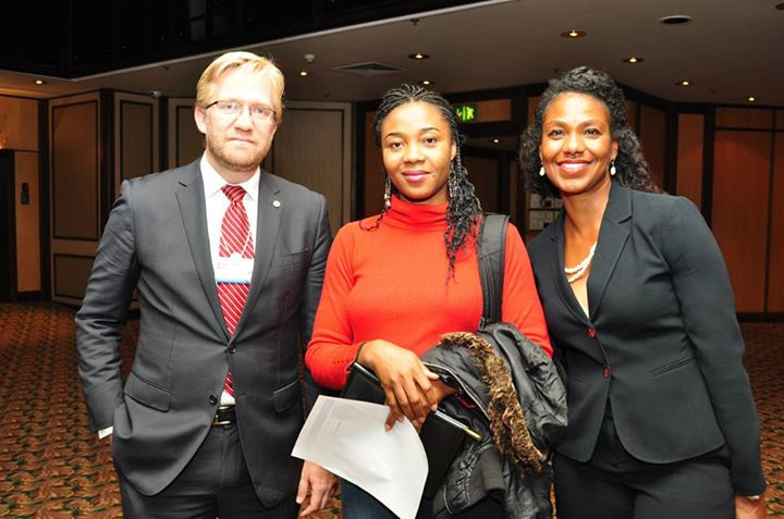 Dr. Wiebe Boer, Director of Strategy, Heirs Holdings and two of the Tony Elumelu Entrepreneurs at the book launch, Rosemary Uche Ani and Sharron McPherson 2 TEEP entrepreneurs, Rosemary Uche Ani and Sharron McPherson at the book launch