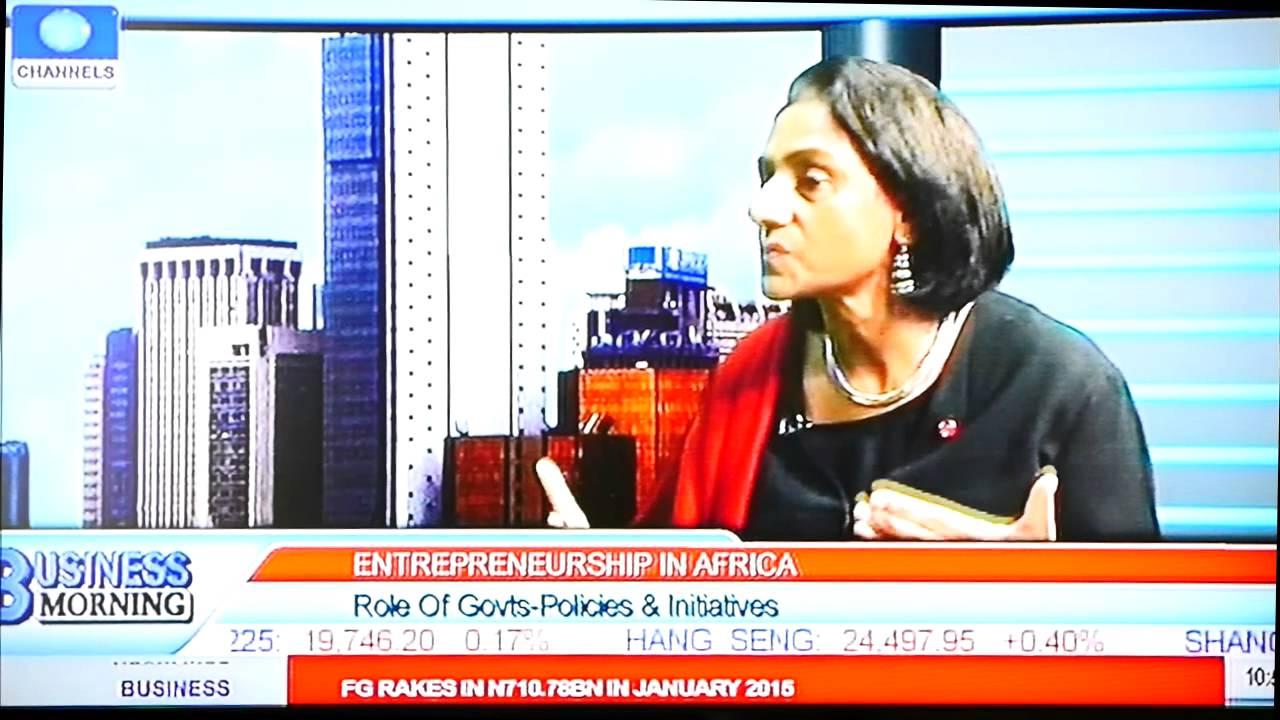 Parminder Vir, Director of Entrepreneurship at TEF on Channels TV