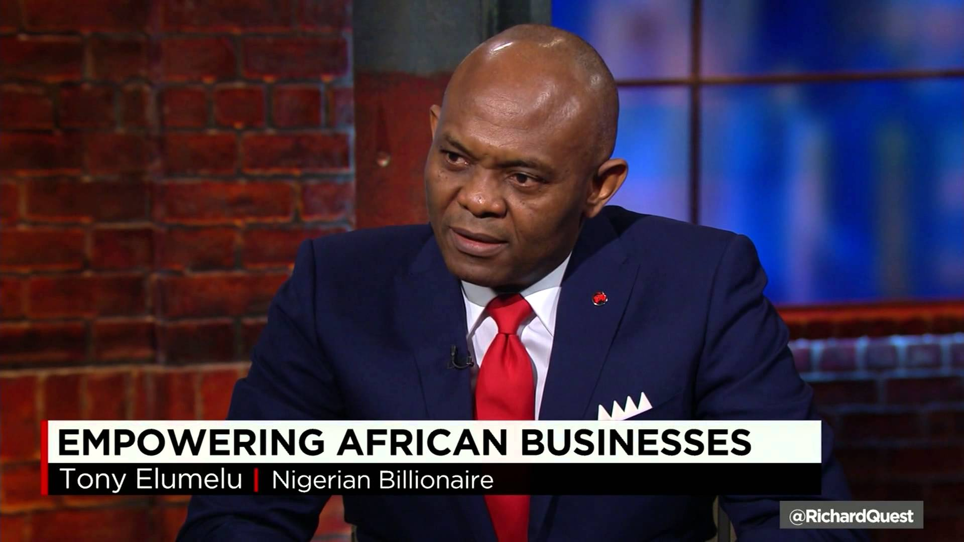 Tony O. Elumelu Discusses Entrepreneurship on Quest Means Business