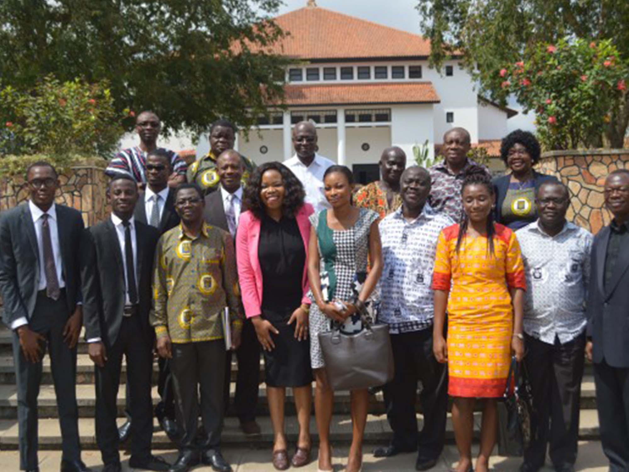 Faculty of the University of Ghana, the awardees and their loved ones right after recieving the Tony & Awele Elumelu Prize